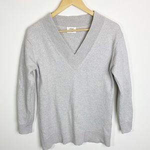 Aritzia Wilfred VNeck Merino Wool Sweater Size XS